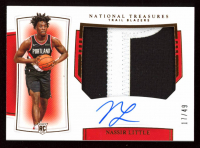 Nassir Little 2019-20 Panini National Treasures Rookie Patch Autographs Horizontal Bronze #127 at PristineAuction.com