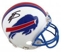Stefon Diggs Signed Bills Throwback Mini Helmet (Beckett COA) at PristineAuction.com