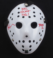 """Ari Lehman Signed """"Friday the 13th"""" Mask Inscribed """"Kill Count 146!"""" & """"Jason 1"""" (Lehman Hologram) at PristineAuction.com"""