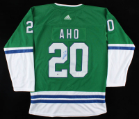 Sebastian Aho Signed Whalers Jersey (Beckett COA) at PristineAuction.com