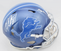 "Calvin Johnson Signed Lions Full-Size Authentic On-Field Hydro Dipped Speed Helmet Inscribed ""Megatron"" (PSA COA) at PristineAuction.com"