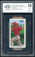 Mike Trout 2010 TriStar Obak National Convention VIP Mini #N28 (BCCG 10) at PristineAuction.com