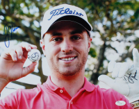 Justin Thomas Signed 11x14 Photo (JSA Hologram) at PristineAuction.com