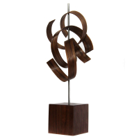 """Jackson Wright """"Scribble"""" 6x16x6 Modern Wood Sculpture at PristineAuction.com"""