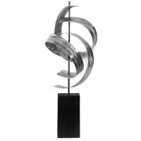 "Jackson Wright ""Twist"" 8x17x7 Modern Metal Sculpture at PristineAuction.com"