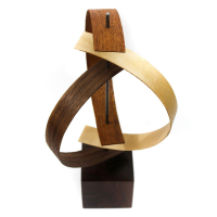 "Jackson Wright ""Origin"" 8x16x8 Modern Wood Sculpture at PristineAuction.com"