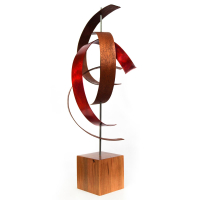 """Jackson Wright """"Wind"""" 10x20x8 Modern Wood Sculpture at PristineAuction.com"""