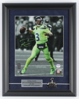 Russell Wilson Signed Seahawks 11x14 Custom Framed Photo Display with Super Bowl XLVIII Champion Trophy Pin (PSA COA & Wilson Hologram) at PristineAuction.com