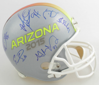 Arizona Wildcats Full-Size Helmet Signed by (14) with Darren Sproles, Shaquille Richardson, Emmanuel Sanders, Melvin Ingram (JSA ALOA) at PristineAuction.com