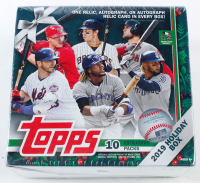 2019 Topps Holiday Baseball Box with (10) Packs at PristineAuction.com