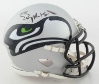 DK Metcalf Signed Seahawks AMP Alternate Speed Mini Helmet (JSA COA) at PristineAuction.com