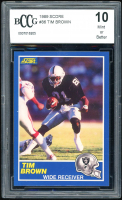 Tim Brown 1989 Score #86 RC (BCCG 10) at PristineAuction.com