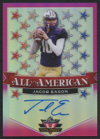 Jacob Eason 2020 Leaf Valiant All American Pink #AAJE1 Autograph RC #12/15 at PristineAuction.com