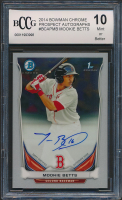 Mookie Betts 2014 Bowman Chrome Prospect Autographs #BCAPMB (BCCG 10) at PristineAuction.com