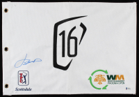 Jordan Spieth Signed 2020 Waste Management Phoenix Open 16th Hole Golf Flag (Beckett COA) at PristineAuction.com