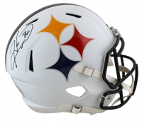 Hines Ward Signed Steelers Full-Size AMP Alternate Speed Helmet (Beckett COA) at PristineAuction.com