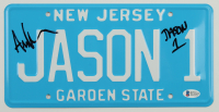 "Ari Lehman Signed ""Friday the 13th"" New Jersey License Plate Inscribed ""Jason 1"" (Beckett COA) at PristineAuction.com"
