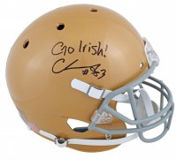 "Chase Claypool Signed Notre Dame Fighting Irish Full Size Helmet Inscribed ""Go Irish!"" (Beckett COA) at PristineAuction.com"