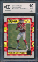 Patrick Mahomes II 2017 Donruss Optic The Rookies #7 (BCCG 10) at PristineAuction.com