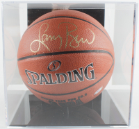 Larry Bird Signed NBA Basketball WIth Display Case (PSA COA) at PristineAuction.com