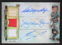 2020 Topps Triple Threads Autograph Relic Combos #ARCFAA Andruw Jones / Ronald Acuna Jr. / Dale Murphy #05/36 at PristineAuction.com