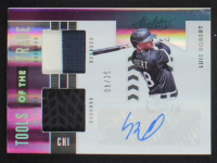 Luis Robert 2020 Absolute Tools of the Trade Dual Swatch Signatures Spectrum Purple #4 #08/25 at PristineAuction.com