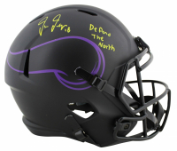 "Justin Jefferson Signed Vikings Eclipse Alternate Speed Full Size Helmet Inscribed ""Defend The North"" (Beckett COA) at PristineAuction.com"