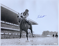 Ron Turcotte Signed 1973 Belmont Stakes 16x20 Photo Riding Secretariat (JSA COA) at PristineAuction.com