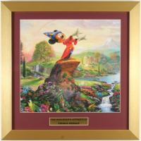 "Thomas Kinkade Walt Disney's ""The Sorcerer's Apprentice"" 16x16 Custom Framed Print Display at PristineAuction.com"