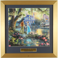 "Thomas Kinkade Walt Disney's ""The Princess and the Frog"" 16x16 Custom Framed Print Display at PristineAuction.com"