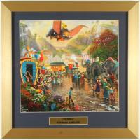 "Thomas Kinkade Walt Disney's ""Dumbo"" 16x16 Custom Framed Print Display at PristineAuction.com"