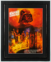 Carrie Fisher & Peter Mayhew Signed LE Star Wars: The Empire Strikes Back 25.5x31.5 Custom Framed Photo (JSA ALOA) at PristineAuction.com