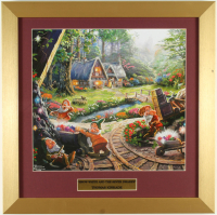 "Thomas Kinkade ""Snow White & the Seven Dwarfs"" 16x16 Custom Framed Print Display at PristineAuction.com"