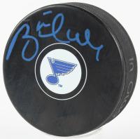 Brett Hull Signed Blues Logo Hockey Puck (PSA COA) at PristineAuction.com