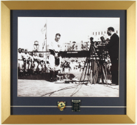 Lou Gehrig Yankees 17x18 Custom Framed Photo Display with (2) Tribute Pins at PristineAuction.com