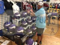 """Brett Favre Signed Vikings Full-Size Authentic On-Field Helmet Inscribed """"HOF 16"""" (Radtke COA) at PristineAuction.com"""