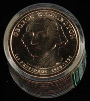 Ballistic Roll of (12) Uncirculated 2007-W George Washington Presidential Dollars at PristineAuction.com