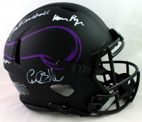 """Vikings """"Purple People Eaters"""" Full-Size Authenthic On-Field Eclipse Alternate Speed Helmet Signed by (4) with Carl Eller, Alan Page, Gary Larsen & Jim Marshall (Beckett COA) at PristineAuction.com"""