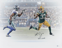 "Aaron Jones Signed Packers 16x20 Photo Inscribed ""10k Wave"" (Beckett Hologram) at PristineAuction.com"