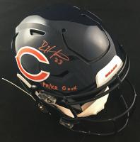 "Devin Hester Signed Bears Full-Size Authentic On-Field SpeedFlex Helmet Inscribed ""PR/KR Goat"" (JSA COA) at PristineAuction.com"