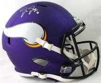 Justin Jefferson Signed Vikings Full-Size Speed Helmet (Beckett COA) at PristineAuction.com