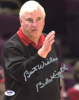 """Bob Knight Signed 8x10 Photo Inscribed """"Best Wishes"""" (PSA COA) at PristineAuction.com"""