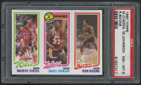 1980-81 Topps #66 178 Maurice Cheeks / 18 Magic Johnson AS / 237 Ron Boone (PSA 8) at PristineAuction.com