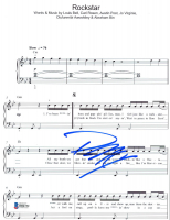 "Post Malone Signed ""Rockstar"" 8x10 Lyric Sheet (Beckett COA) at PristineAuction.com"