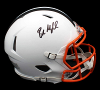 Baker Mayfield Signed Browns Full-Size Authentic On-Field Matte White Speed Helmet (Beckett COA) at PristineAuction.com