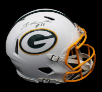 Za'Darius Smith Signed Packers Full-Size Authentic On-Field Matte White Speed Helmet (Radtke COA) at PristineAuction.com
