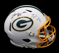 Za'Darius Smith & Preston Smith Signed Packers Full-Size Authentic On-Field Matte White Speed Helmet (Radtke COA) at PristineAuction.com