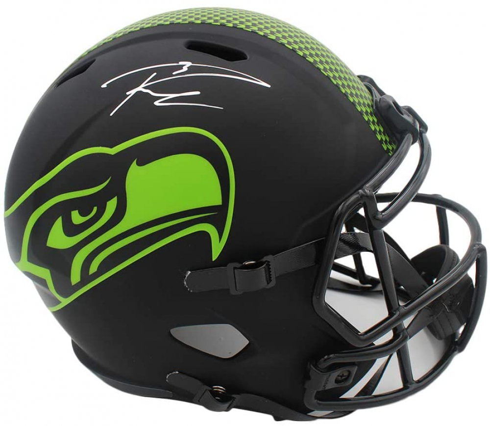 Russell Wilson Signed Seahawks Full-Size Eclipse Alternate Speed Helmet (Wilson Hologram) at PristineAuction.com