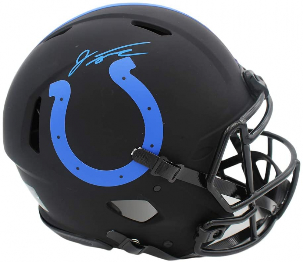 Jonathan Taylor Signed Colts Full-Size Authentic On-Field Eclipse Alternate Speed Helmet (Fanatics Hologram) at PristineAuction.com