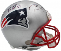 Tom Brady, Julian Edelman, & Rob Gronkowski Signed Patriots Full-Size Authentic On-Field Helmet (Fanatics Hologram) at PristineAuction.com